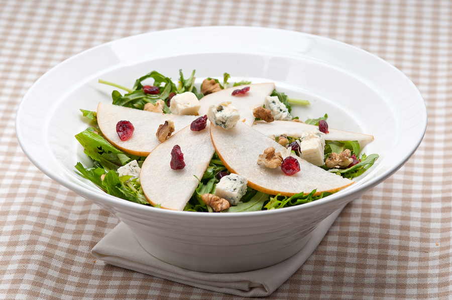 Pears, Walnut and Dried Cranberry Salad