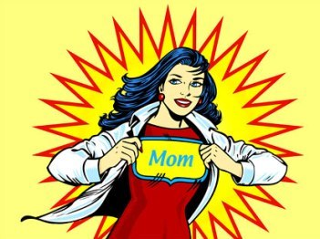 Busy mom or Super mom